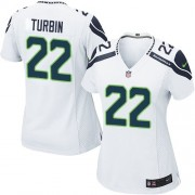 NFL Robert Turbin Seattle Seahawks Women's Limited Road Nike Jersey - White