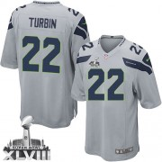 NFL Robert Turbin Seattle Seahawks Youth Elite Alternate Super Bowl XLVIII Nike Jersey - Grey