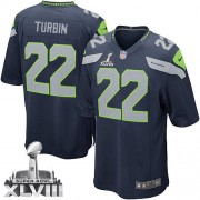 NFL Robert Turbin Seattle Seahawks Youth Elite Team Color Home Super Bowl XLVIII Nike Jersey - Navy Blue