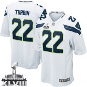 NFL Robert Turbin Seattle Seahawks Youth Elite Road Super Bowl XLVIII Nike Jersey - White