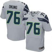 NFL Russell Okung Seattle Seahawks Elite Alternate Nike Jersey - Grey