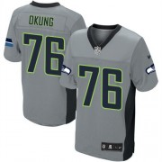 NFL Russell Okung Seattle Seahawks Elite Nike Jersey - Grey Shadow