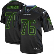 NFL Russell Okung Seattle Seahawks Elite Nike Jersey - Lights Out Black