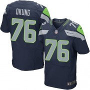 NFL Russell Okung Seattle Seahawks Elite Team Color Home Nike Jersey - Navy Blue