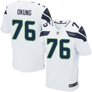 NFL Russell Okung Seattle Seahawks Elite Road Nike Jersey - White