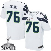 NFL Russell Okung Seattle Seahawks Elite Road Super Bowl XLVIII Nike Jersey - White