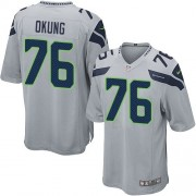 NFL Russell Okung Seattle Seahawks Game Alternate Nike Jersey - Grey