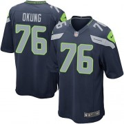 NFL Russell Okung Seattle Seahawks Game Team Color Home Nike Jersey - Navy Blue