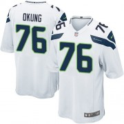 NFL Russell Okung Seattle Seahawks Game Road Nike Jersey - White