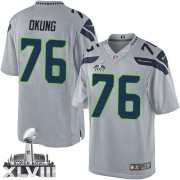 NFL Russell Okung Seattle Seahawks Limited Alternate Super Bowl XLVIII Nike Jersey - Grey