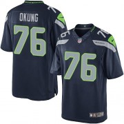 NFL Russell Okung Seattle Seahawks Limited Team Color Home Nike Jersey - Navy Blue