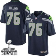 NFL Russell Okung Seattle Seahawks Limited Team Color Home Super Bowl XLVIII Nike Jersey - Navy Blue