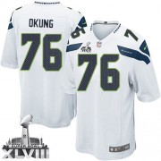 NFL Russell Okung Seattle Seahawks Limited Road Super Bowl XLVIII Nike Jersey - White