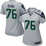 NFL Russell Okung Seattle Seahawks Women's Elite Alternate Nike Jersey - Grey