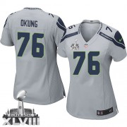 NFL Russell Okung Seattle Seahawks Women's Elite Alternate Super Bowl XLVIII Nike Jersey - Grey