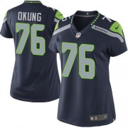 NFL Russell Okung Seattle Seahawks Women's Elite Team Color Home Nike Jersey - Navy Blue