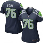 NFL Russell Okung Seattle Seahawks Women's Game Team Color Home Nike Jersey - Navy Blue
