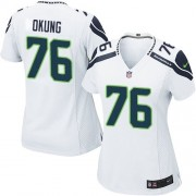 NFL Russell Okung Seattle Seahawks Women's Game Road Nike Jersey - White