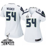 NFL Bobby Wagner Seattle Seahawks Women's Game Road Super Bowl XLVIII Nike Jersey - White