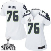 NFL Russell Okung Seattle Seahawks Women's Limited Road Super Bowl XLVIII Nike Jersey - White
