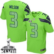 NFL Russell Wilson Seattle Seahawks Elite Alternate Super Bowl XLVIII Nike Jersey - Green
