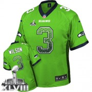 NFL Russell Wilson Seattle Seahawks Elite Drift Fashion Super Bowl XLVIII Nike Jersey - Green