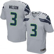 NFL Russell Wilson Seattle Seahawks Elite Alternate Nike Jersey - Grey