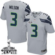 NFL Russell Wilson Seattle Seahawks Elite Alternate Super Bowl XLVIII Nike Jersey - Grey
