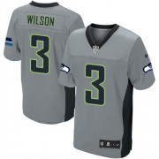 NFL Russell Wilson Seattle Seahawks Elite Nike Jersey - Grey Shadow