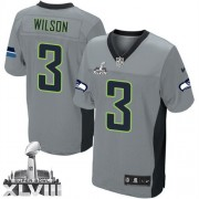 NFL Russell Wilson Seattle Seahawks Elite Super Bowl XLVIII Nike Jersey - Grey Shadow