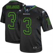 NFL Russell Wilson Seattle Seahawks Elite Nike Jersey - Lights Out Black