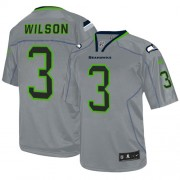 NFL Russell Wilson Seattle Seahawks Elite Nike Jersey - Lights Out Grey