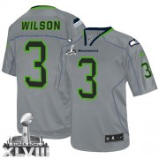 NFL Russell Wilson Seattle Seahawks Elite Super Bowl XLVIII Nike Jersey - Lights Out Grey