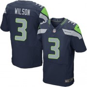 NFL Russell Wilson Seattle Seahawks Elite Team Color Home Nike Jersey - Navy Blue
