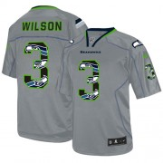 NFL Russell Wilson Seattle Seahawks Elite New Nike Jersey - Lights Out Grey