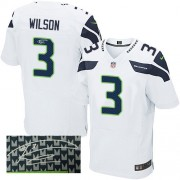 NFL Russell Wilson Seattle Seahawks Elite Road Autographed Nike Jersey - White