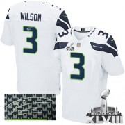 NFL Russell Wilson Seattle Seahawks Elite Road Autographed Super Bowl XLVIII Nike Jersey - White