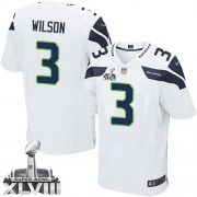 NFL Russell Wilson Seattle Seahawks Elite Road Super Bowl XLVIII Nike Jersey - White