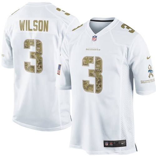 Nice NFL Russell Wilson Seattle Seahawks Elite Salute to Service Nike  for sale