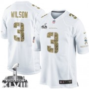 NFL Russell Wilson Seattle Seahawks Elite Salute to Service Super Bowl XLVIII Nike Jersey - White