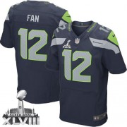 NFL 12th Fan Seattle Seahawks Elite Team Color Home Super Bowl XLVIII Nike Jersey - Navy Blue