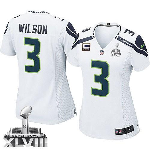 NFL Russell Wilson Seattle Seahawks Women's Elite Road Super Bowl ...
