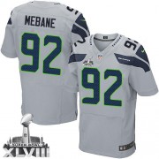 NFL Brandon Mebane Seattle Seahawks Elite Alternate Super Bowl XLVIII Nike Jersey - Grey
