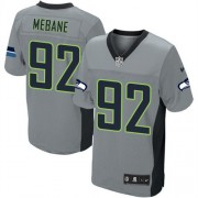 NFL Brandon Mebane Seattle Seahawks Elite Nike Jersey - Grey Shadow