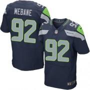 NFL Brandon Mebane Seattle Seahawks Elite Team Color Home Nike Jersey - Navy Blue