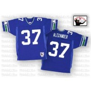NFL Shaun Alexander Seattle Seahawks Authentic Home Throwback Mitchell and Ness Jersey - Blue