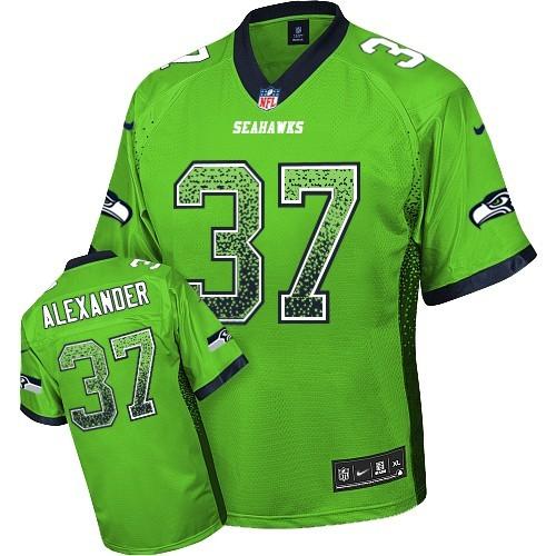 36277b2a6 NFL Shaun Alexander Seattle Seahawks Elite Drift Fashion Nike Jersey - Green