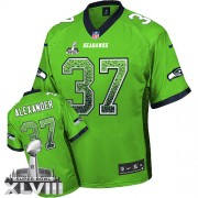 NFL Shaun Alexander Seattle Seahawks Elite Drift Fashion Super Bowl XLVIII Nike Jersey - Green