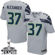 NFL Shaun Alexander Seattle Seahawks Elite Alternate Super Bowl XLVIII Nike Jersey - Grey