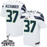 NFL Shaun Alexander Seattle Seahawks Elite Road Super Bowl XLVIII Nike Jersey - White